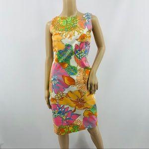 David Meister Bright Floral Sleeveless Dress